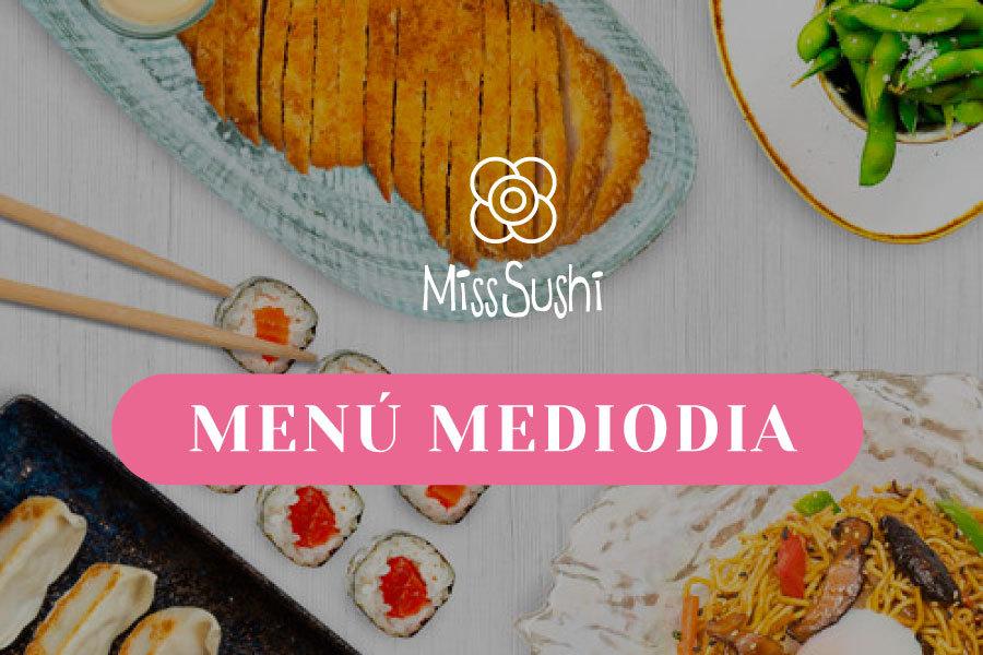 Menú mediodía Miss Sushi