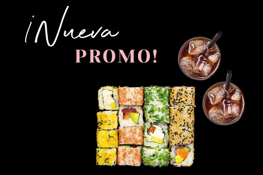 Disfruta en Miss Sushi si pides tu Noruega Mix, Business o Pret-A-Pórter + 2 Bebidas.