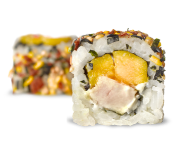 California roll de mango y pollo en Miss Sushi