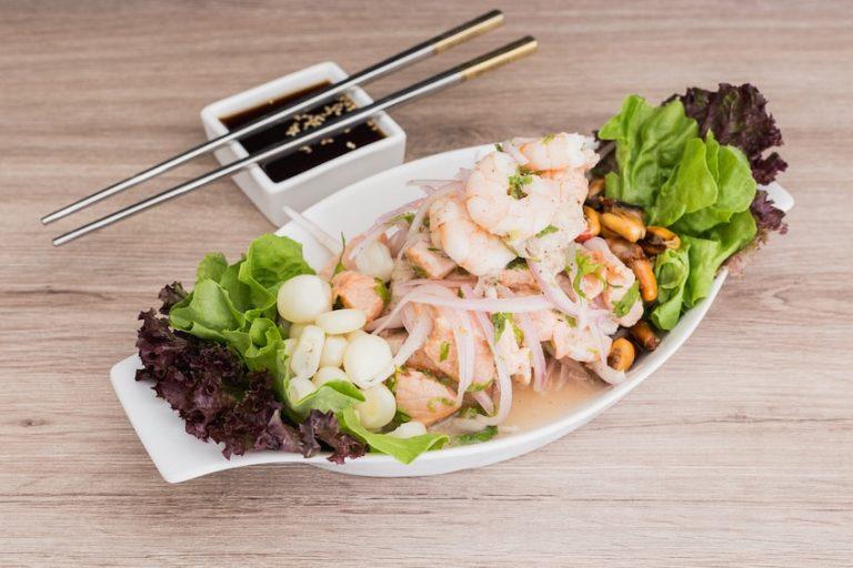 Ceviche de gambón salvaje de Miss Sushi, con su toque de kimchee