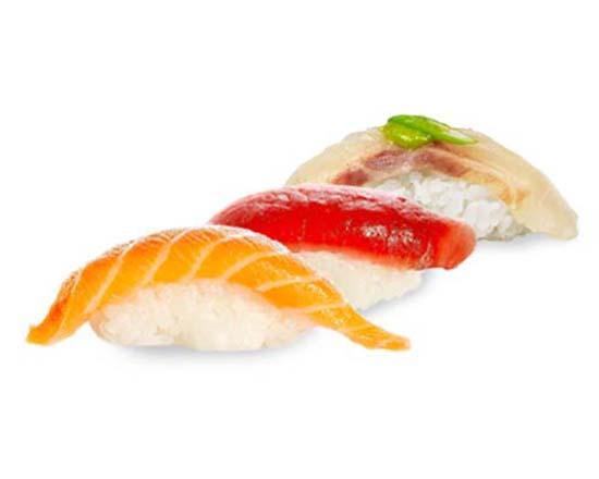 Combo de tres nigiris en Miss Sushi