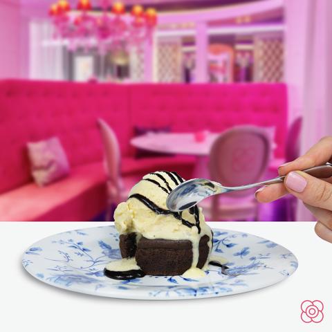 Coulant de chocolate, solo en Miss Sushi