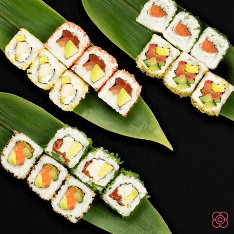 El arroz del sushi