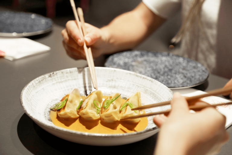 Gyozas de langostino en Miss Sushi