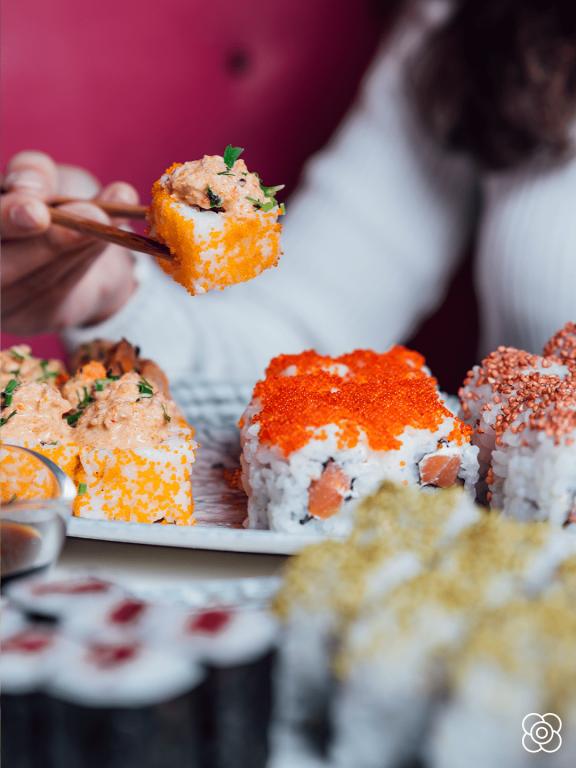 Huevas de pescado, en Miss Sushi