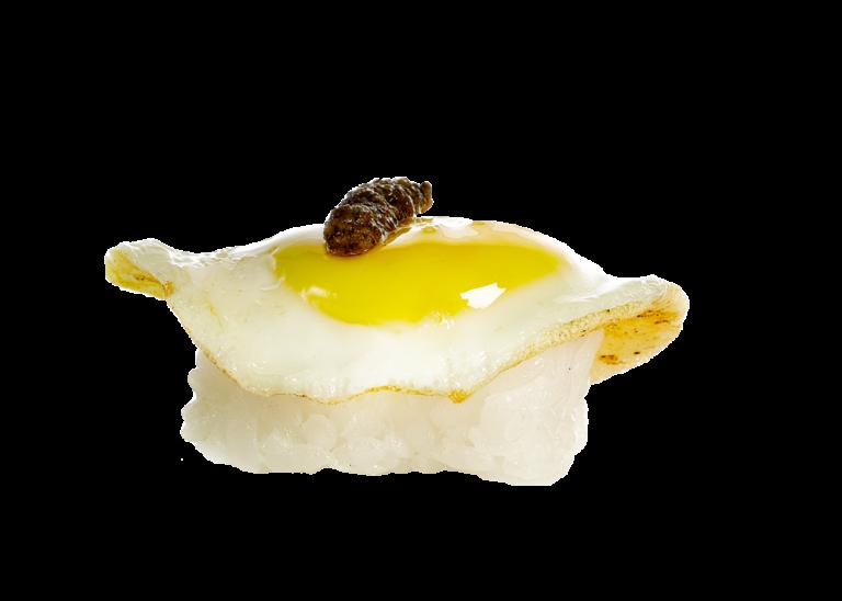 Nigiri de huevo de codorniz