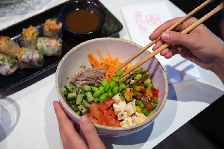 Poke 100% vegetal, en Miss Sushi