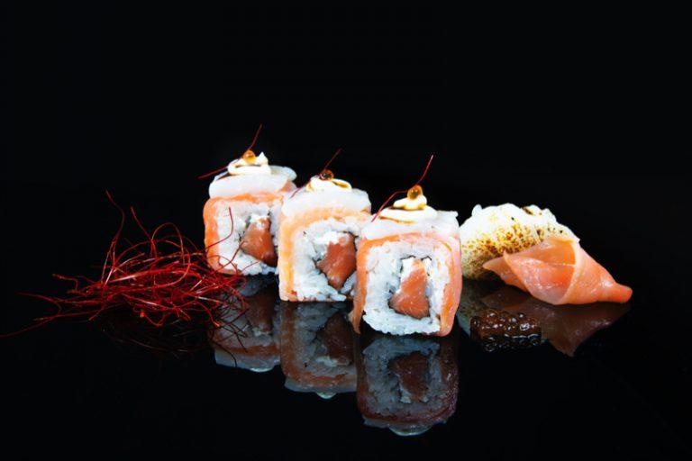 Ten, con caviar de huevas de Ikura, de Miss Sushi